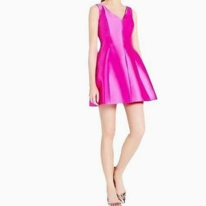 💋💗Kate Spade Cubanelle Hot Pink Silk Dress Sz 6